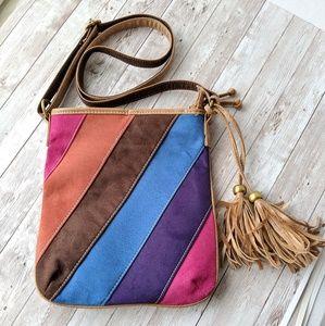 Handbags - ☕Suade colorful crossbody purse